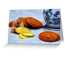 ginger biscuits Greeting Card
