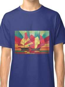 Cubist Abstract of Junk Sails and Ocean Skies Classic T-Shirt