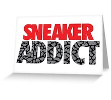 Sneaker Addict Cement Greeting Card