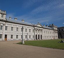 Blue Skies over Greenwich Naval College in the the Royal Borough of Greenwich by Keith Larby