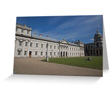 Blue Skies over Greenwich Naval College in the the Royal Borough of Greenwich Greeting Card