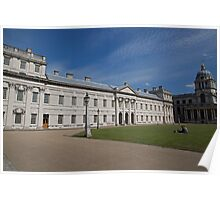 Blue Skies over Greenwich Naval College in the the Royal Borough of Greenwich Poster