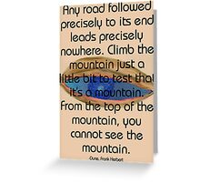 Test the mountain Greeting Card