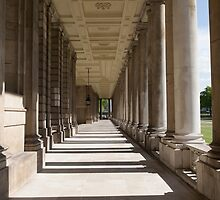 Columns in the Royal Naval college in Greenwich by Keith Larby