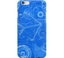 Techno 3 Monotype Print in Blue iPhone Case/Skin