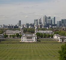 A view over London from Greenwich park by Keith Larby