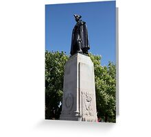 James Wolfe statue in Greenwich park Greeting Card