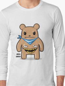 greedy bear white Long Sleeve T-Shirt