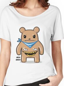greedy bear white Women's Relaxed Fit T-Shirt