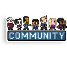 8-Bit Community  Canvas Print