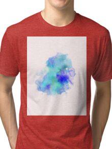 Blue Inkblot Spray  Tri-blend T-Shirt