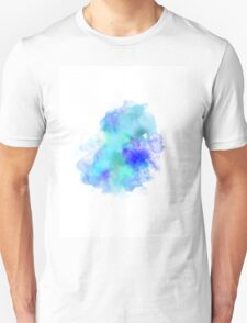 Blue Inkblot Spray  T-Shirt
