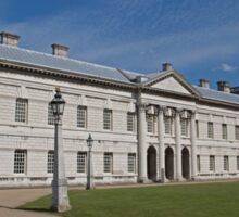 Blue Skies over Greenwich Naval College in the the Royal Borough of Greenwich Sticker
