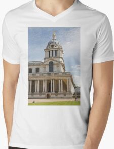 St Peter & St Pauls church in Greenwich Naval College Mens V-Neck T-Shirt