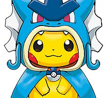 Pikachu Dressed as Gyarados by gizorge