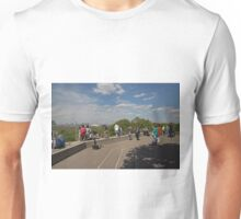 People taking in the view over london from Greenwich Park Unisex T-Shirt