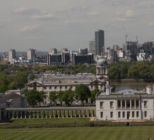 A view over London from Greenwich park Sticker