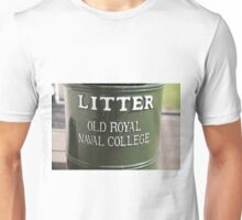Litter bin in the old Royal Naval college in Greenwich Unisex T-Shirt