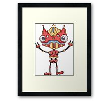 Robot King Framed Print