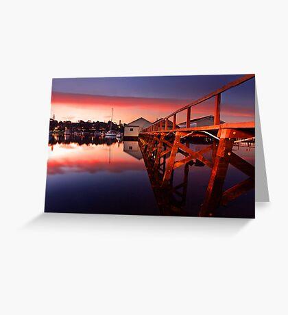 Mosman Bay Boatshed  Greeting Card