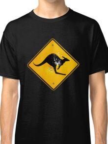 Kangaroo road sign Classic T-Shirt