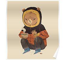 noodle bear Poster