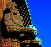 "City Life - ""The stone men"" by Denis Molodkin"