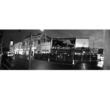 Destruction of RSL at night Black and White Photographic Print