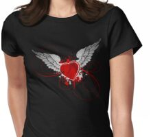 Angelic destruction Womens Fitted T-Shirt