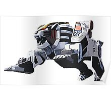 Mighty Morphin Power Rangers Tigerzord Poster