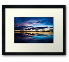 Sunset On The Lake Framed Print