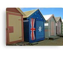Beach Box Patriot Canvas Print