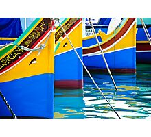 Maltese Fishing Boats Marsaxlokk, Malta Photographic Print