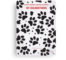 No229 My 101 Dalmatians minimal movie poster Canvas Print