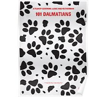 No229 My 101 Dalmatians minimal movie poster Poster