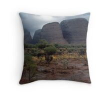Showers Over The Olgas. Throw Pillow