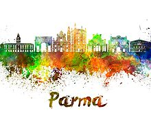 Parma skyline in watercolor by paulrommer