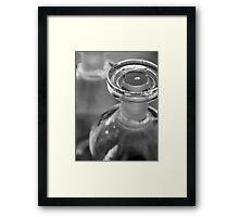 Glass Stopper Framed Print