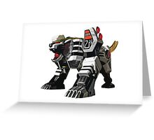 Mighty Morphin Power Rangers Tigerzord 2 Greeting Card