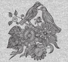 Bird Doodle - Work in Progress One Piece - Long Sleeve
