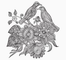 Bird Doodle - Work in Progress Kids Clothes