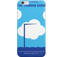 No234 My Truman show minimal movie poster iPhone Case/Skin