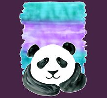 Lazy Panda on Mint & Violet Womens Fitted T-Shirt