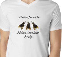 'I Believe I'm A Flie' Mens V-Neck T-Shirt