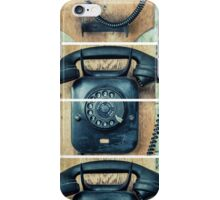 study wall telephone III iPhone Case/Skin