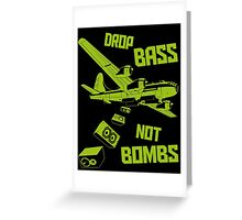 Drop The Bass Greeting Card