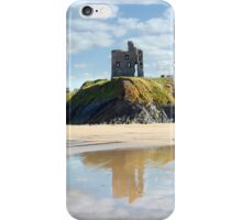 castle and beach with beautiful reflection of the clouds iPhone Case/Skin