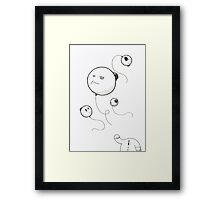 Away with the wind Framed Print