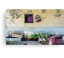 Pachino Tomato Growers Front Yard Canvas Print