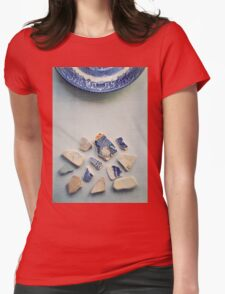 Picking up the broken pieces. Womens Fitted T-Shirt